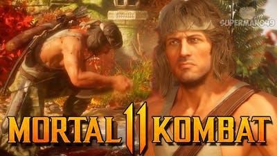 """Rambo's Claymore Trap Is INSANE! - Mortal Kombat 11: """"Rambo"""" Gameplay"""