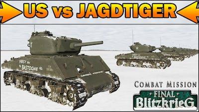 US vs JAGDTIGER - SIMULATION - What Can Destroy It Face to Face? - Combat Mission Final Blitzkrieg