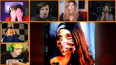 Let's Players Reaction To First Jumpscare | Simulacra
