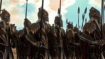 MirkWood Elves Vs Mordor Orcs   15,000 Unit Cinematic Siege Battle   Total War Rise Of Mordor
