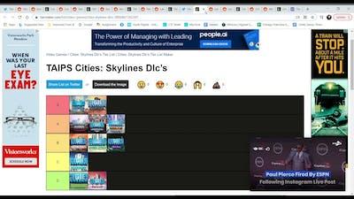 Tier List Eip 4 - Cities Skylines Dlc's Tier List