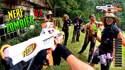 NERF meets Call of Duty ZOMBIES 4.1 | (Nerf Gun First Person Shooter!)