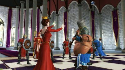 4K  Battle Chess Game of Kings All Knight, Bishop, Rook, Queen, and King Battle Scenes