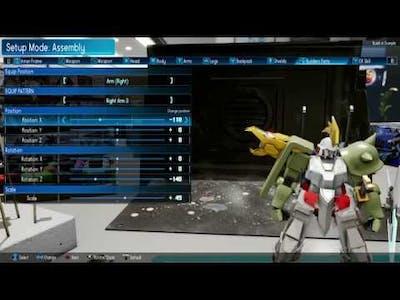 NEW GUNDAM BREAKER - Setup Mode (Game footage)