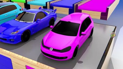 super sports cars racing game on giant mega GTA tracks 3D animated gameplay videos.