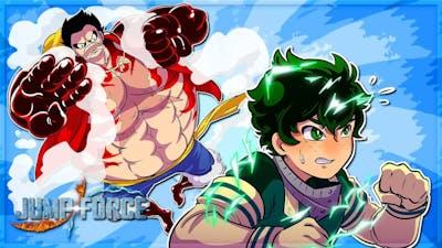 LUFFY SHOWS DEKU GEAR 4TH! ONE PIECE! (Jump Force Online Match)
