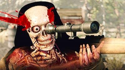 SHOOTING THE SNIPER BEFORE HE SHOT ME!? (Sniper Elite 4)