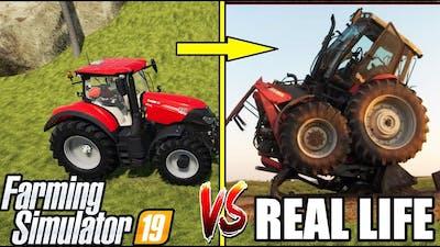 REAL LIFE vs FARMING SIMULATOR : TRACTOR FAILS