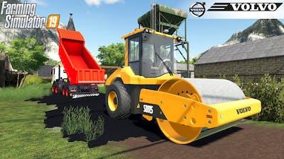 Farming Simulator 19 - VOLVO SD-115 ROAD COMPACTOR Construction Of A New Road