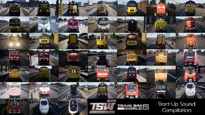 Train Sim World 2020 & 2 Start Up Sound Compilation