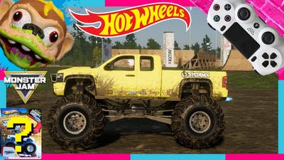 HOT WHEELS SURPRISE MONSTER JAM TOY with the CREW 2 VIDEO GAME MONSTER TRUCKS