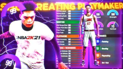 I PLAYED THE NBA 2K21 DEMO AND MADE THE BEST GUARD BUILD but i could not make a jumper...