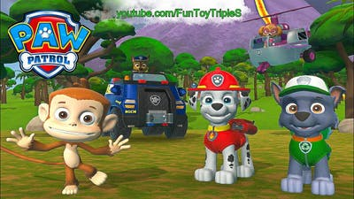 Paw Patrol On A Roll! #12 Marshall and Rocky Chase save Mandy the Monkey