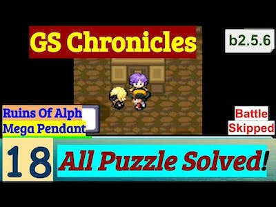 Pokemon GS Chronicles Part 18 All Puzzle Solved Of Ruins Of Alph & Mega Pendant | GBA Rom Hack