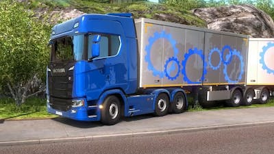 ETS 2 - Scania With B Double Trailers Cargo Pick Up