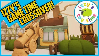TRACKS THE TRAIN SET GAME! IZZY'S GAME TIME CROSSOVER! Fun Toy Trains !