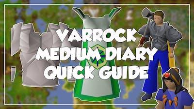 Varrock Medium Diary Quick Guide - Old School Runescape/OSRS