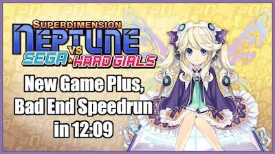 Superdimension Neptune Vs Sega Hard Girls - NG+, Bad End Speedrun in 12:09 [Personal Best]