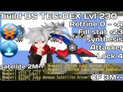 Toram online update build BS TEC DEX Lvl cap 230 5in1