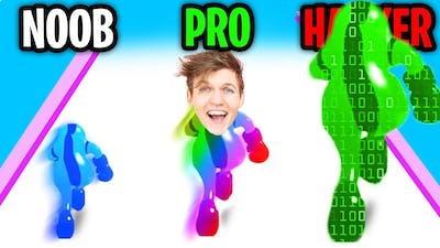 Can We Go NOOB vs PRO vs HACKER In JELLY CLASH 3D!? (ALL LEVELS!!)