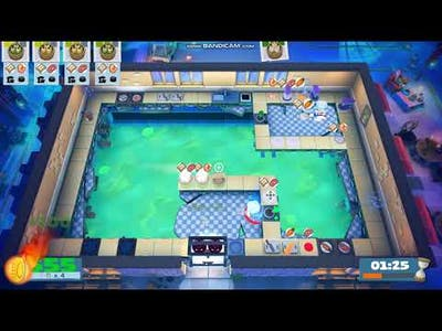 (3players) Overcooked2 Night of the Hangry Horde Kevin 2 [score: 1355]