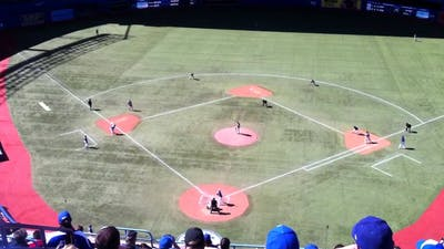 Kawasaki winning the game in the bottom of the 9th for Jays