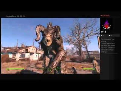 Fallout 4 Gameplay: Wasteland Workshop DLC Gameplay Captured Deathclaw