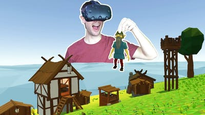 BUILDING AN ENTIRE COLONY AS A KING IN VR! - Guiding Hand VR HTC VIVE Gameplay