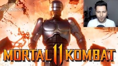 Robocop, Fujin & Sheeva Gameplay REACTION! - Mortal Kombat 11: Aftermath Gameplay Trailer Reaction!