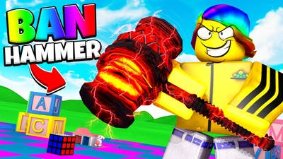 I became a ROBLOX TOY and got the BAN HAMMER