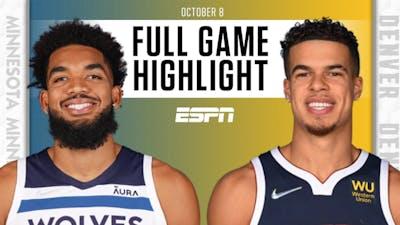 Minnesota Timberwolves at Denver Nuggets   Full Game Highlights