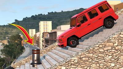 Cars vs Stairs and Bollards - BeamNG Drive - 🔥 ULTIMATE Edition Compilation