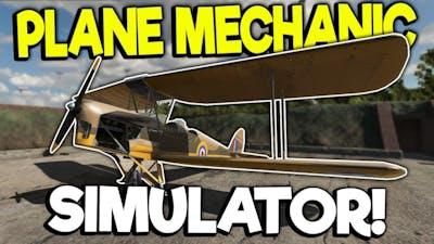 WORKING ON WWII AIRPLANES! - Plane Mechanic Simulator Gameplay