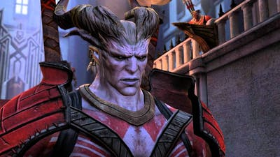 Dragon Age 2: Qunari crisis: Hawke fights Arishok