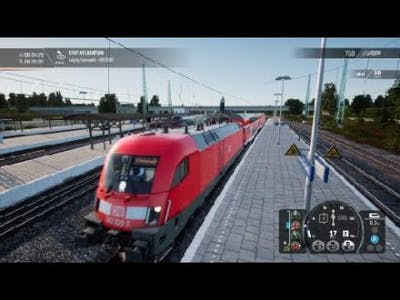 Train Sim World 2 - DB BR 182 train setup - destination board, lights and AFB