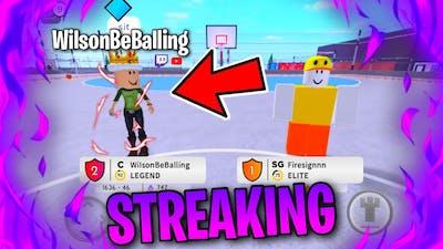 STREAKING WITH WILSONBEBALLING! (Hoopz Gameplay)