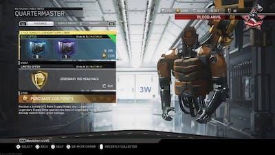 5 pack bundle plus legendary drop + Legendary rig head hack opening