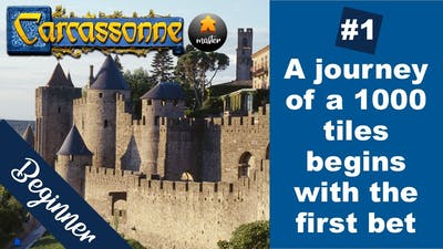 How to win Carcassonne: Beginner strategy (ELO 1200 - 1225) - game 1