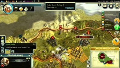 Let's Play Civilization V: Rise of the Mongols (Emperor difficulty); part 1