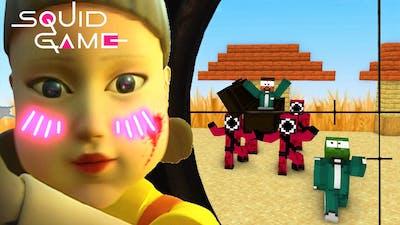 SQUID GAME Part 3: RED LIGHT GREEN LIGHT - Minecraft Animation