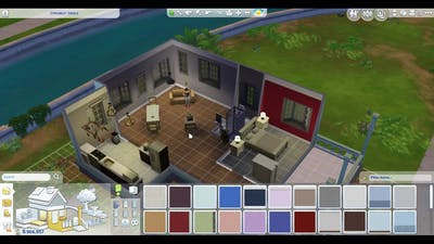 Sims 4 & Dine Out Beginning and House Building Game Play 5