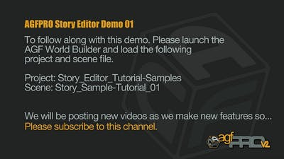 AGFPRO Story Editor Tutorial 01