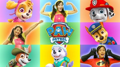 Paw Giant Smash Game | Superpup Marshall and Ellie Learn Shapes for Kids