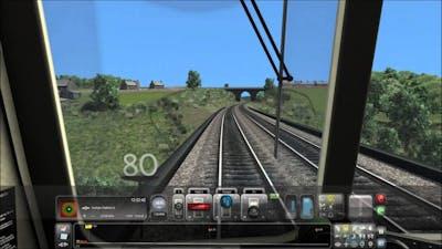 Train simulator 2015. Bishop Auckland-Durham-Bishop Auckland (5x speed)