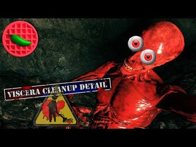 CTHULHU'S CLEANING CREW -- Let's Play Viscera Cleanup Detail (House of Horror DLC) (Co-op Gameplay)