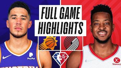 Portland Trail Blazers vs Phoenix Suns Full Game Highlights | October 23, 2021