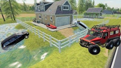 Huge storm floods houses and creates sinkhole | Farming Simulator 19