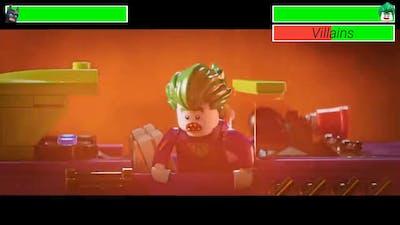 Lego Batman vs. Lego Joker and Henchmen with healthbars