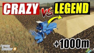 Farming Simulator 19: CRAZY FARMER vs LEGEND FARMER; +1000 Meter Legend Cutter! Gameplay Comparison!
