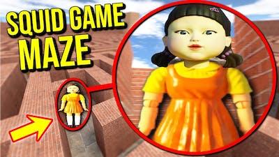 I put SQUID GAME in a maze!